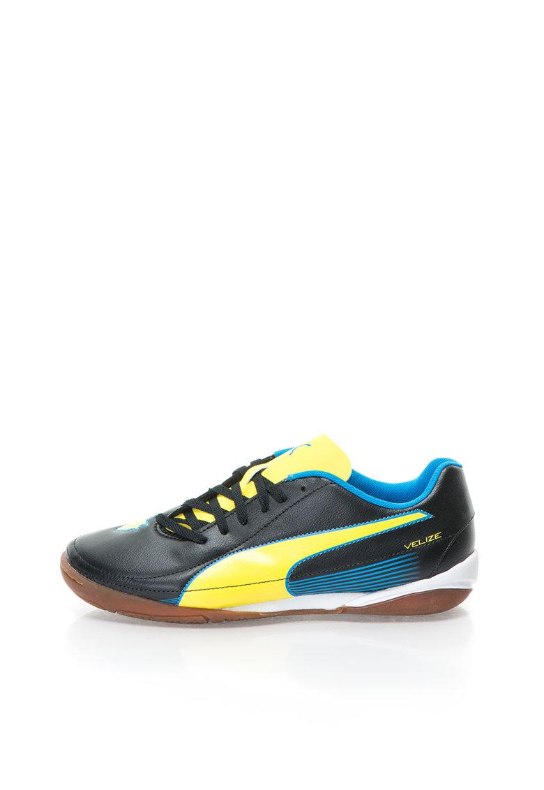 Puma Pantofi pentru fotbal negru cu galben VELIZE II IT