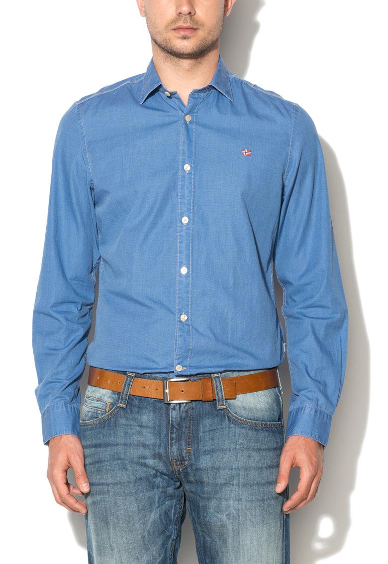 Camasa slim fit albastra cu guler clasic Grahund