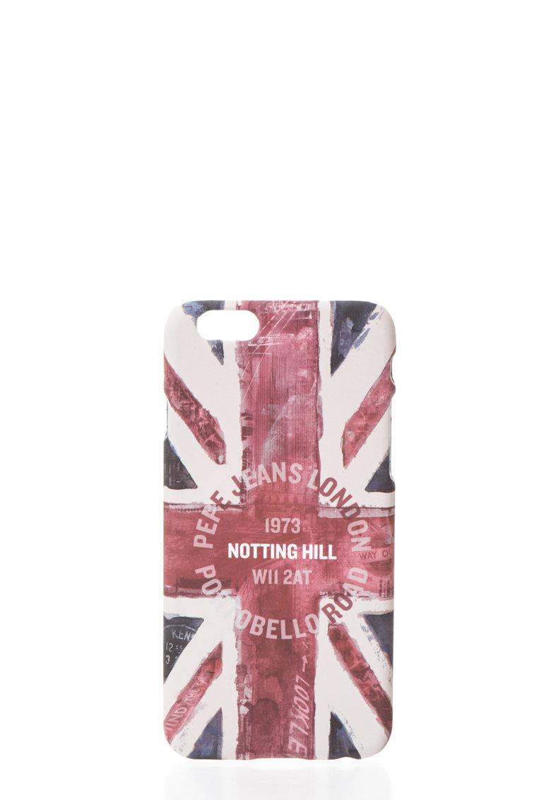 Pepe Jeans London Carcasa multicolora cu steag imprimat pentru iPhone6