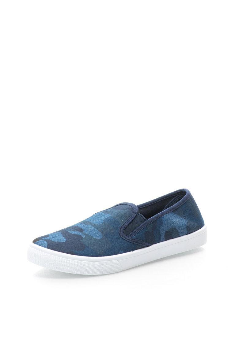 Alcott Pantofi slip-on albastri cu imprimeu camuflaj