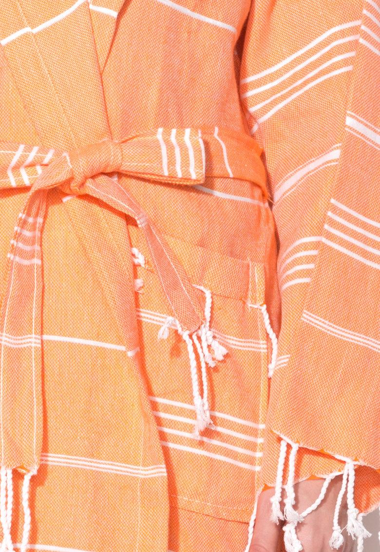 Leunelle Set de halat de baie si prosop oranj Sultan