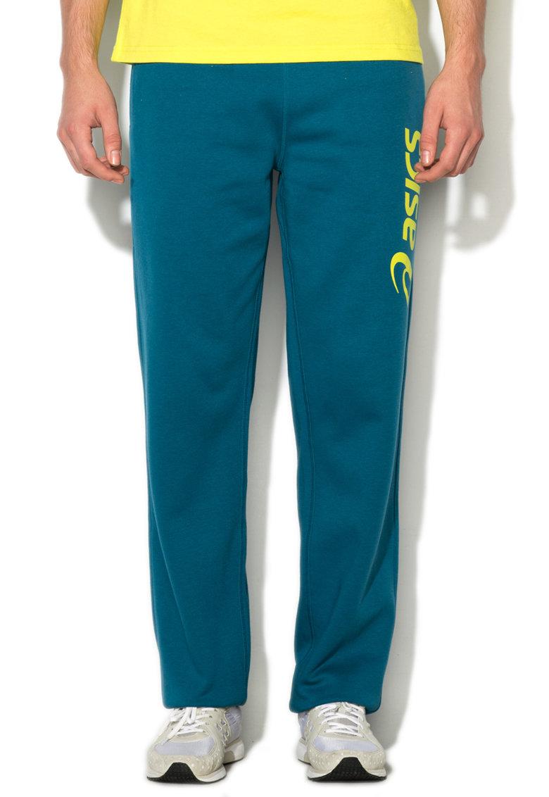 Pantaloni sport albastru petrol cu logo