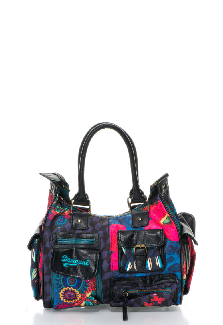 DESIGUAL Geanta multicolora de umar London Medium Lakey