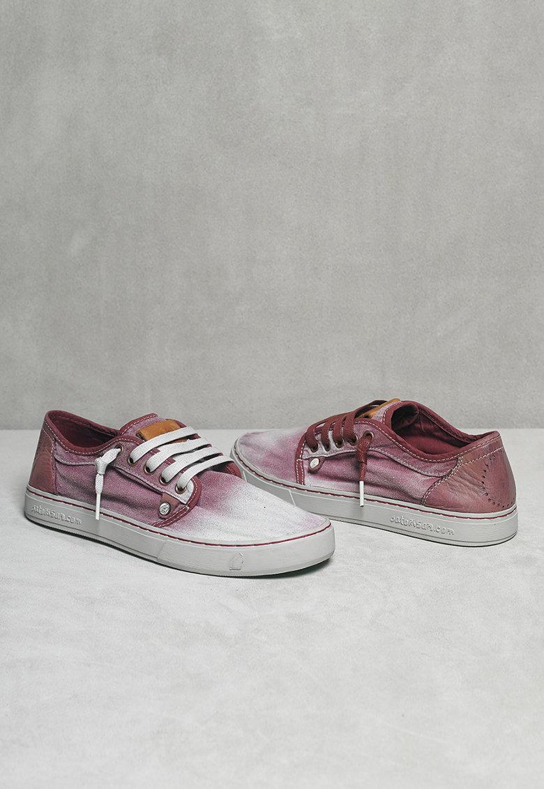 Pantofi casual violet cu alb Heisei