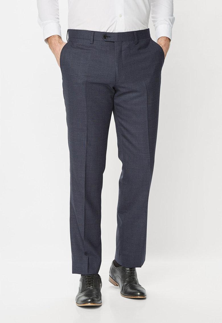 NEXT Pantaloni eleganti bleumarin de lana