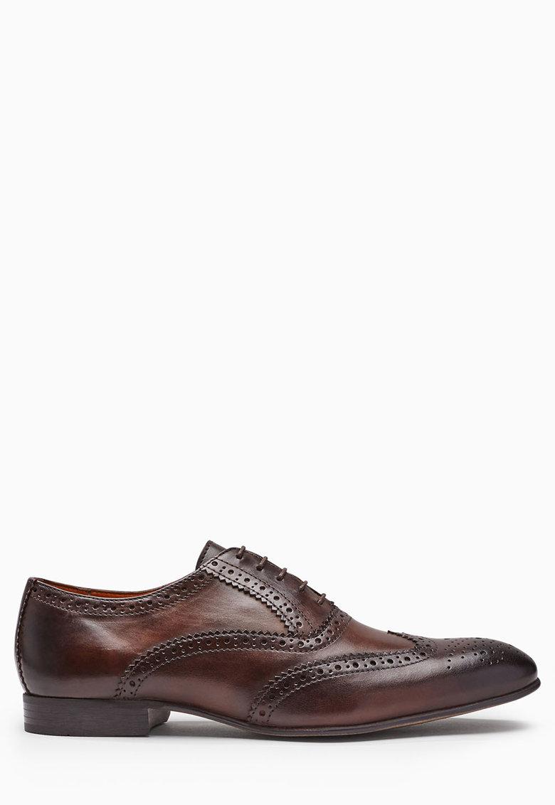 Pantofi brogue Oxford maro de piele de la NEXT