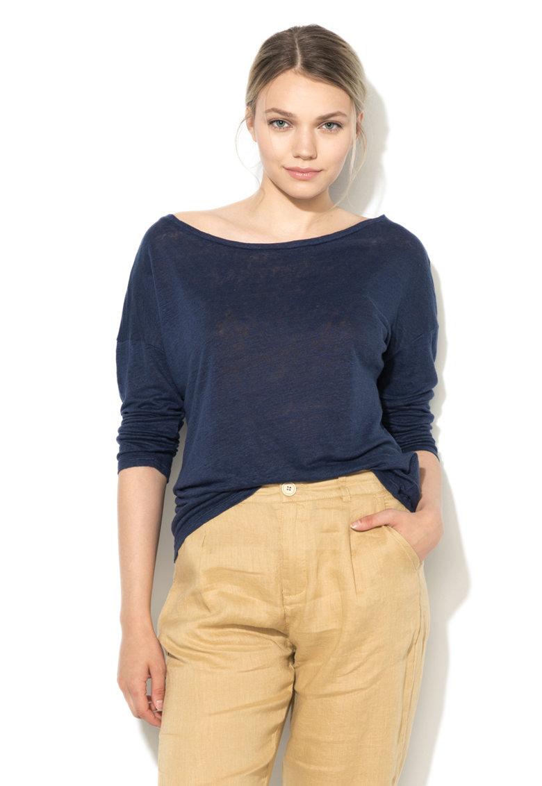 Bluza bleumarin tricotata fin de in