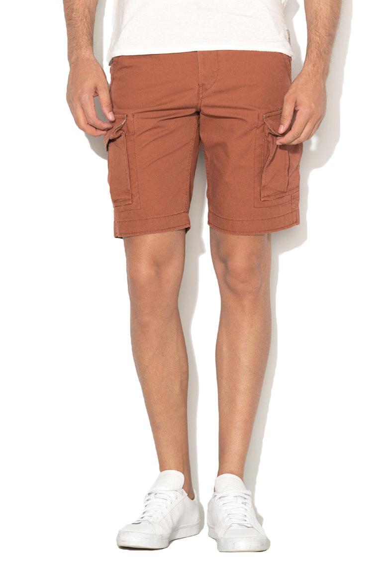 JackJones Pantaloni scurti cargo comfort fit rosu caramiziu Preston