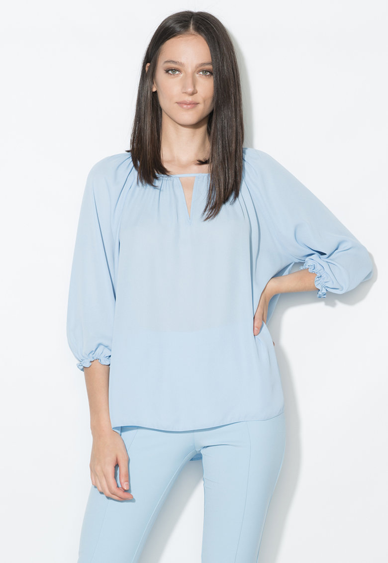 Zee Lane Collection Bluza bleu vaporoasa