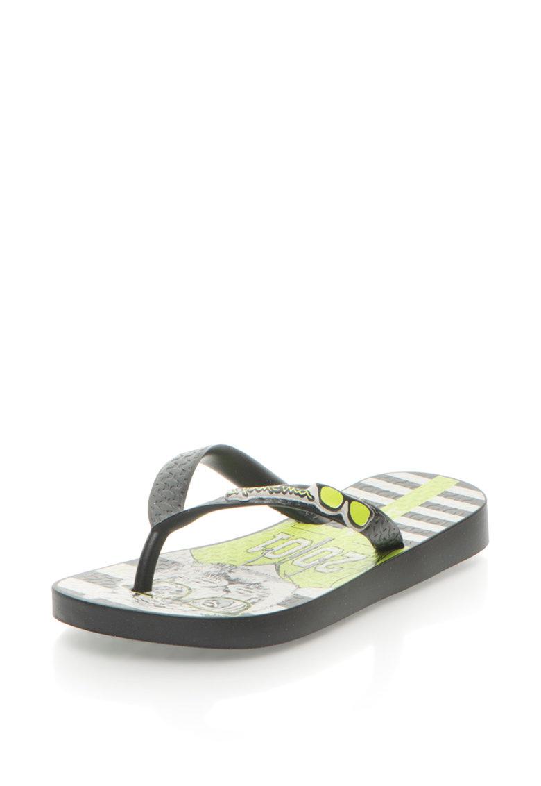 Papuci flip-flop cu talpa imprimata Temas X