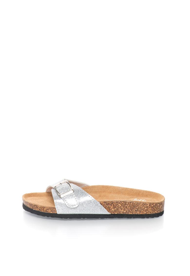 Australian Papuci argintii cu particule stralucitoare