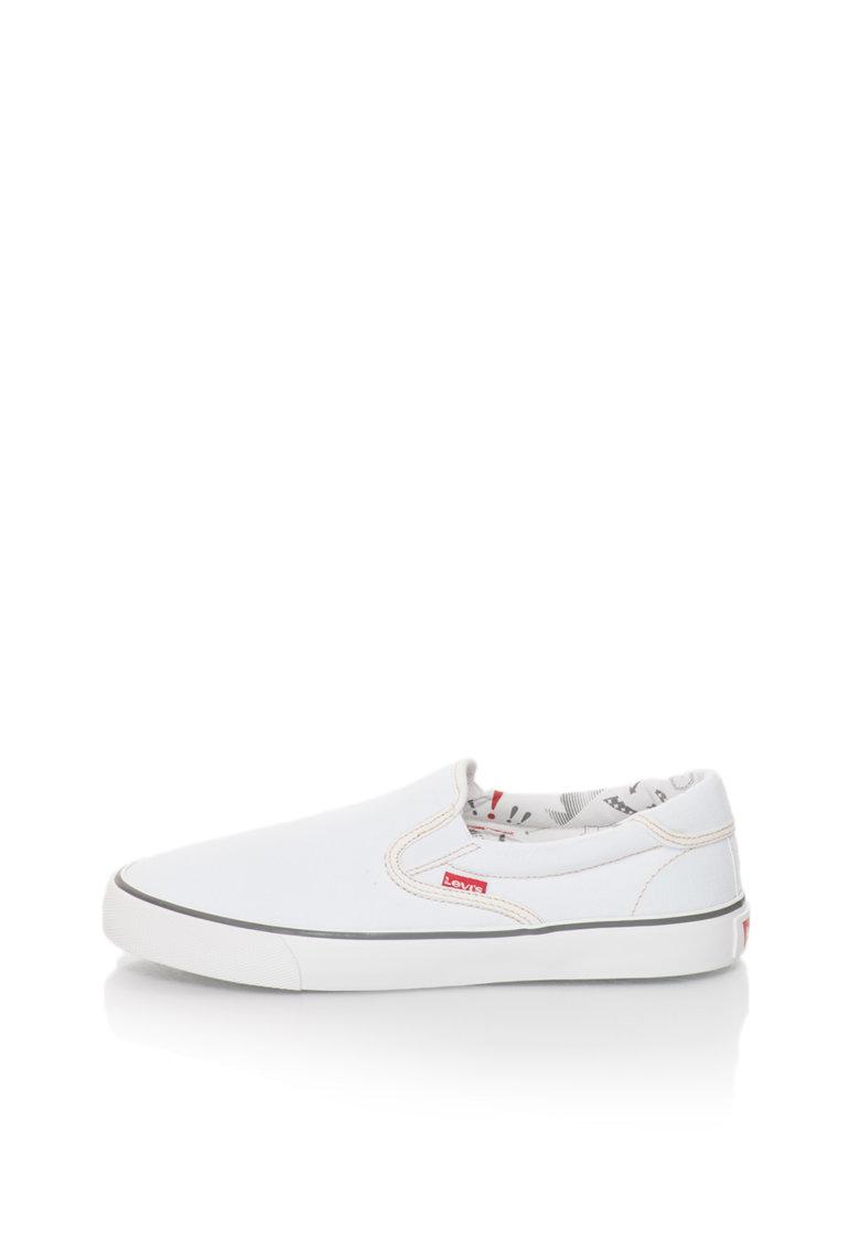 Levis Pantofi slip-on albi