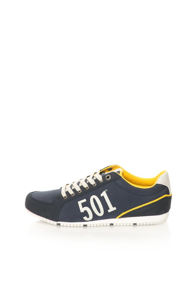 Levis Pantofi sport bleumarin cu galben 501
