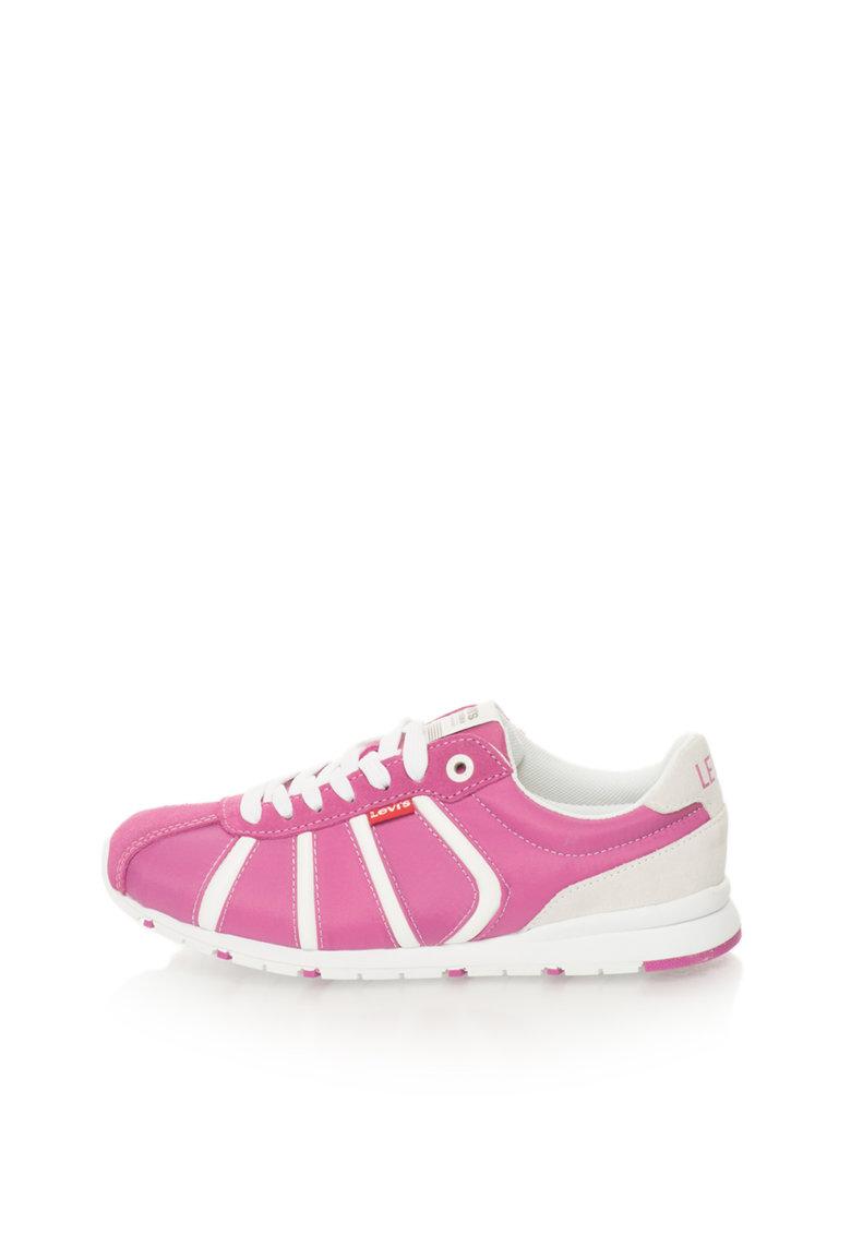 Levis Pantofi sport violet si alb cu garnituri de piele intoarsa 501
