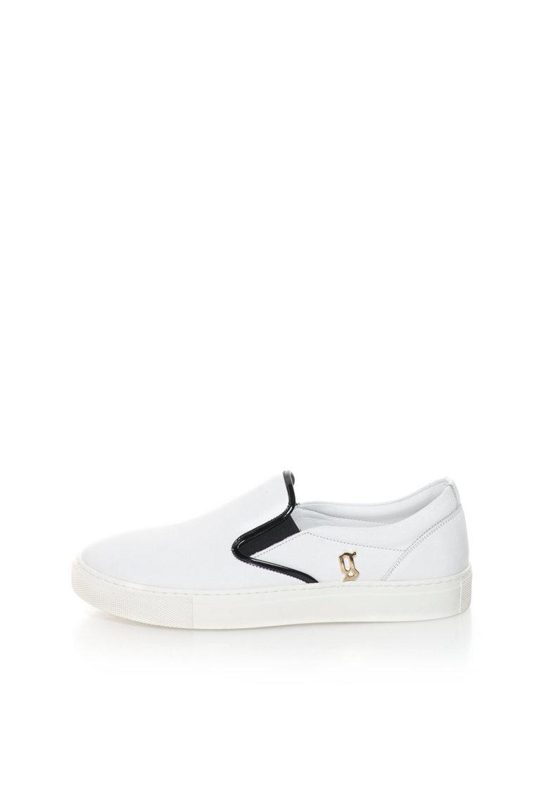 John Galliano Pantofi slip-on de piele