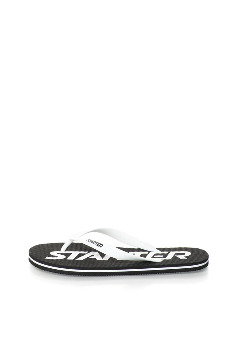 Papuci flip-flop albi cu logo Phoenix