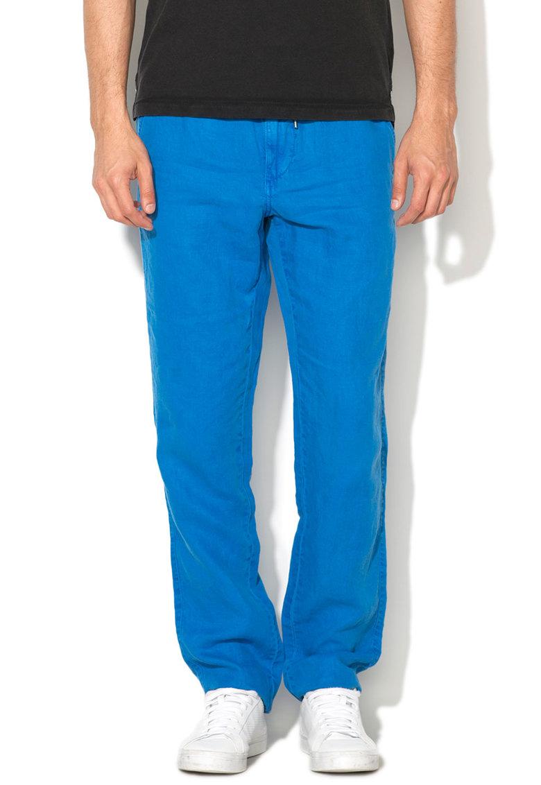 Pantaloni Albastru Mineral Din In Mitch