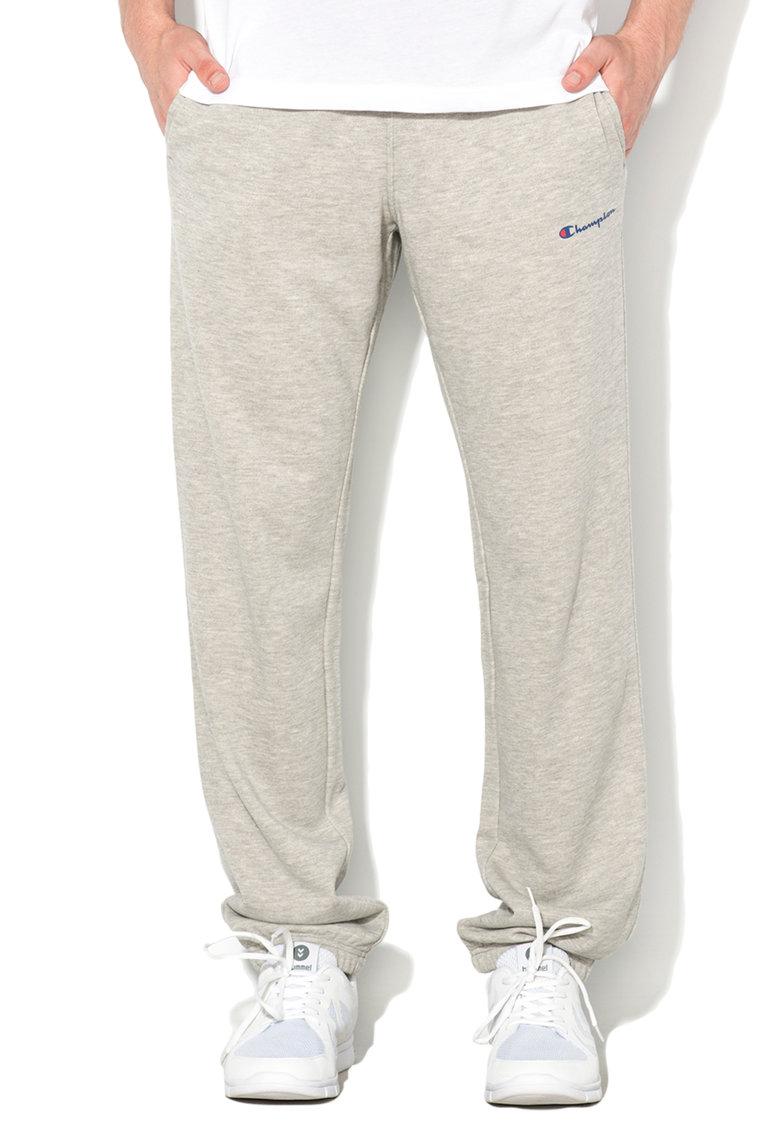 Pantaloni sport gri deschis melange comfort fit