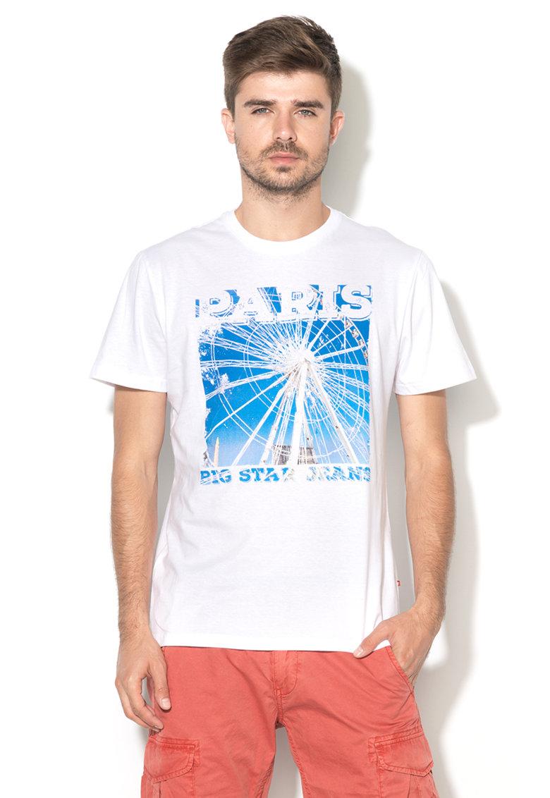 Tricou alb cu imprimeu Ripa