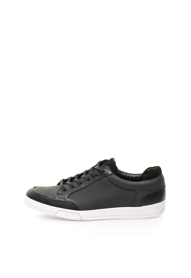 Calvin Klein Pantofi sport negri cu model reptila Balin