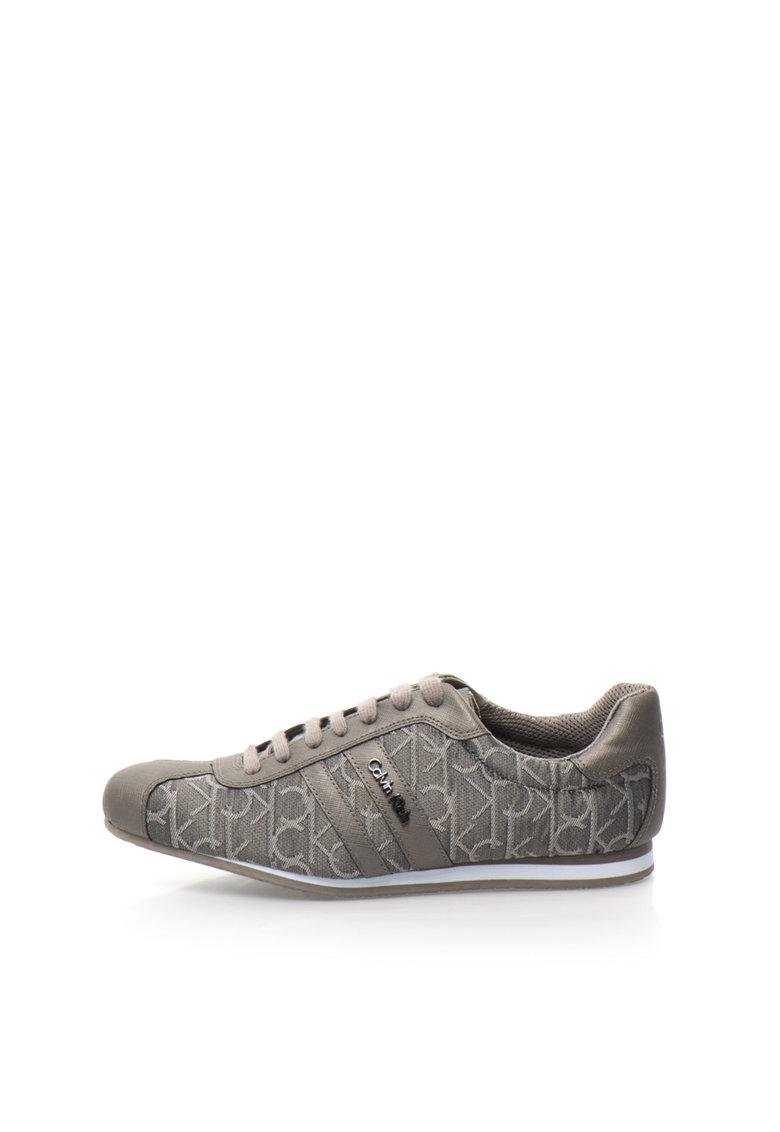 Calvin Klein Pantofi casual gri cu model logo George
