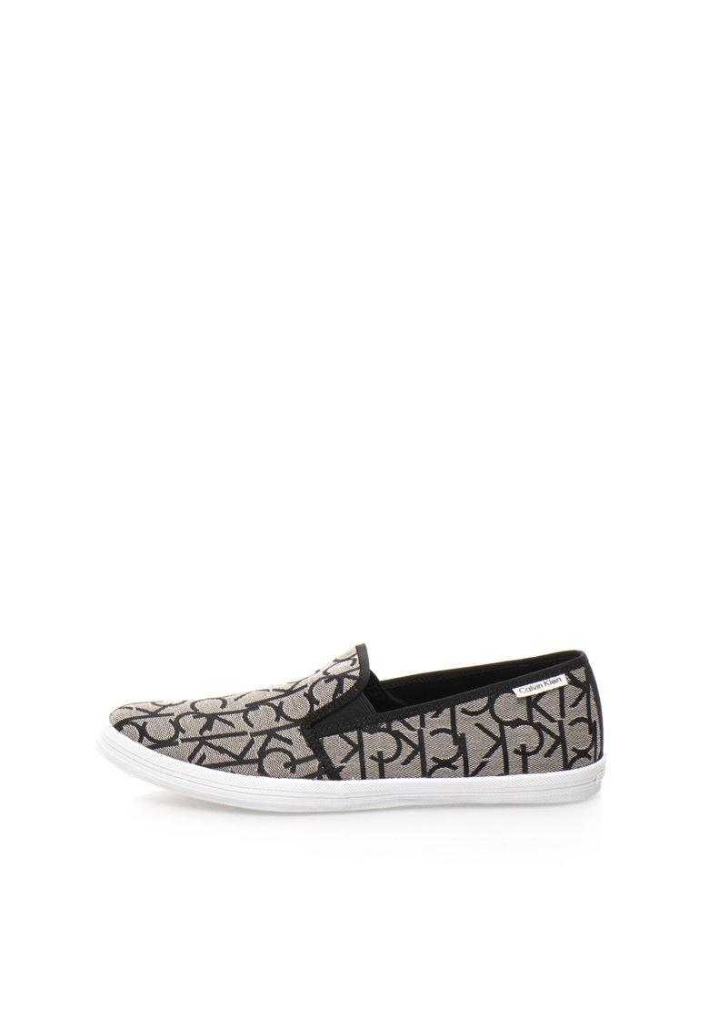 Calvin Klein Pantofi slip-on negru cu gri Oreste