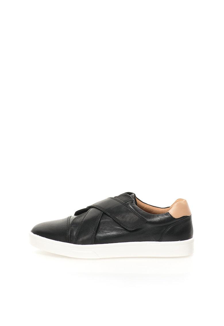 Calvin Klein Pantofi casual negri de piele Issie