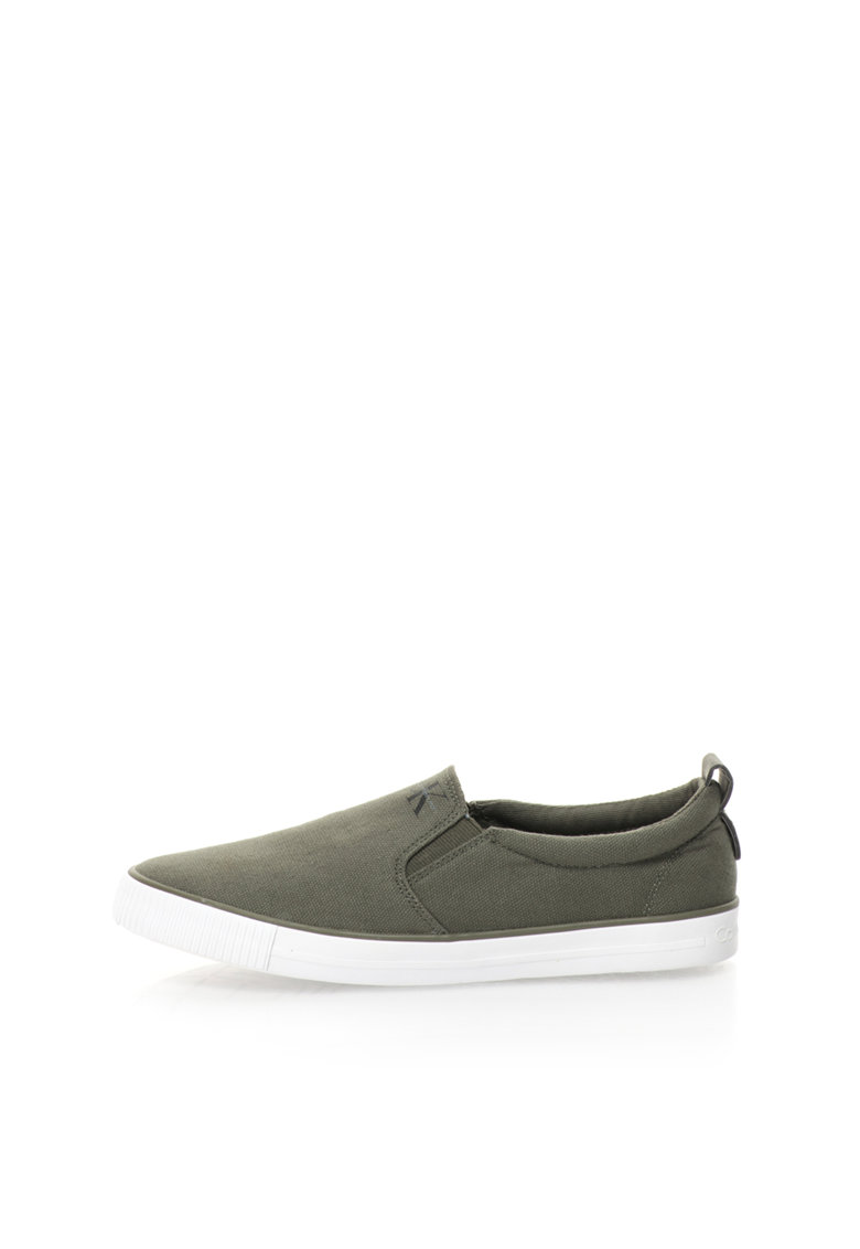 Pantofi slip-on verde militar de panza Dolly