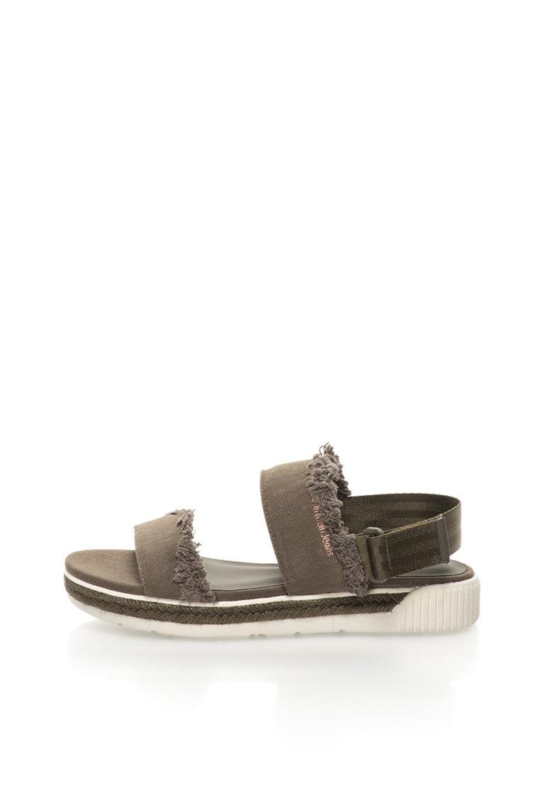 Sandale slingback verde militar Muriel