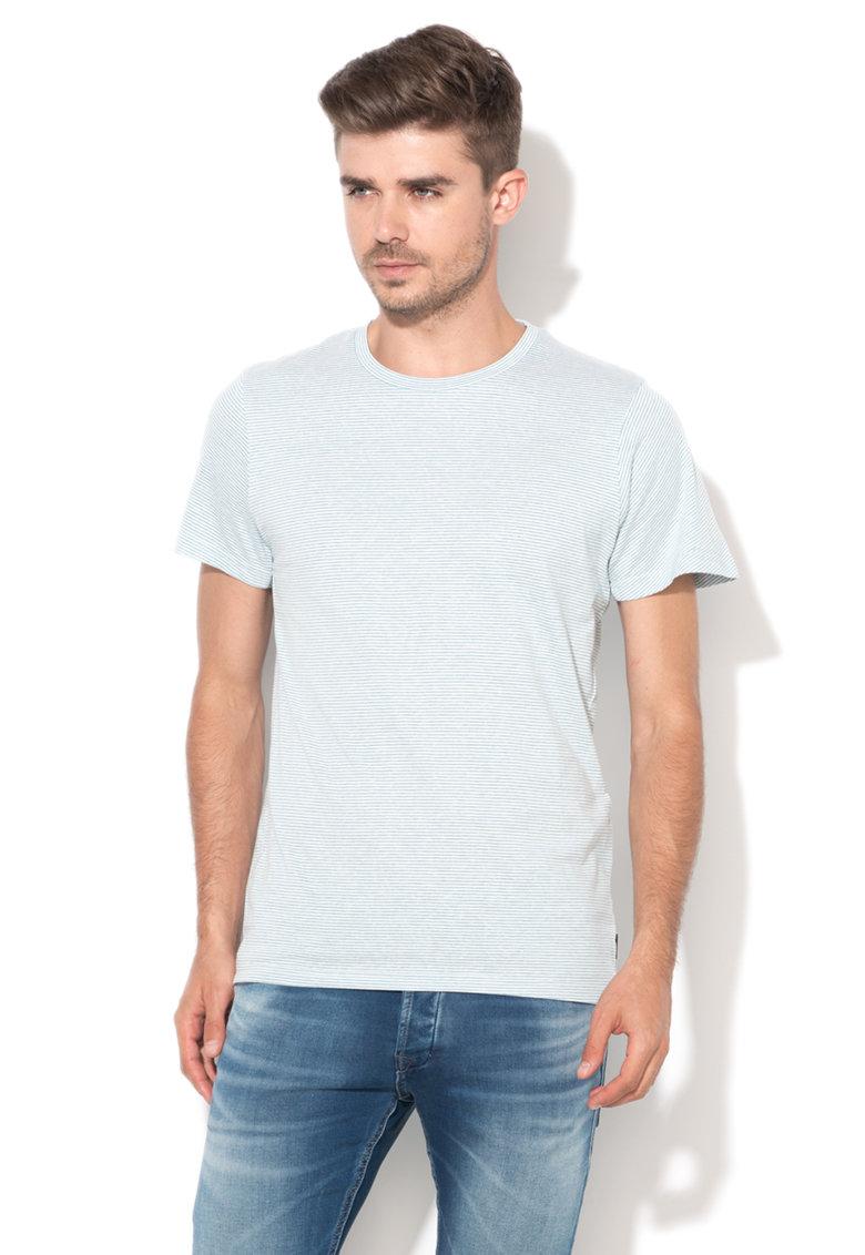 JackJones Tricou albastru cu alb in dungi True