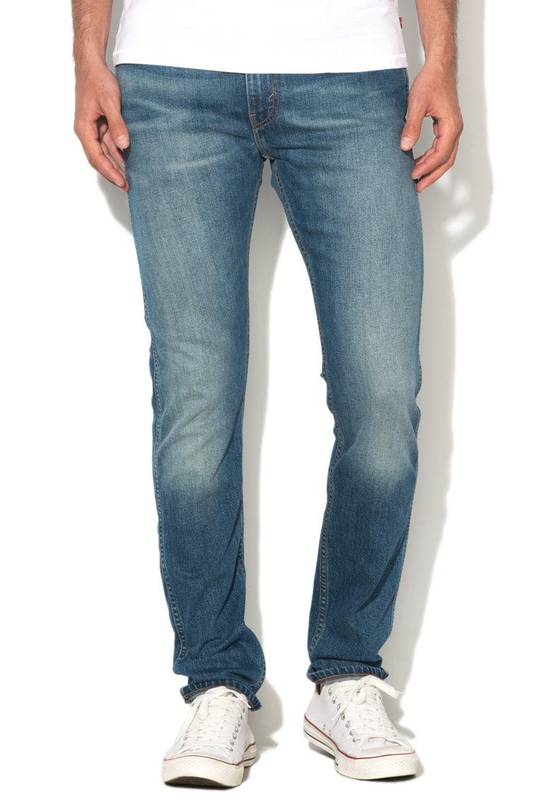 Levis Blugi skinny albastri cu aspect decolorat 510™