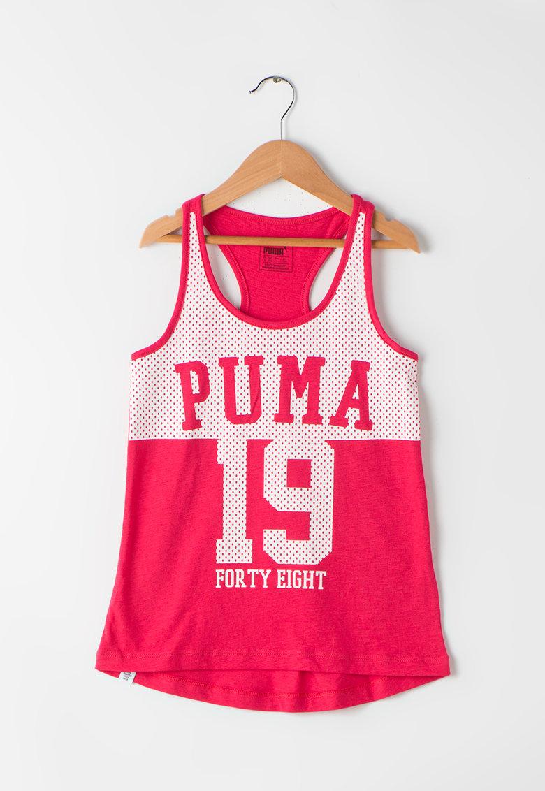 Puma Top rosu capsuna cu alb