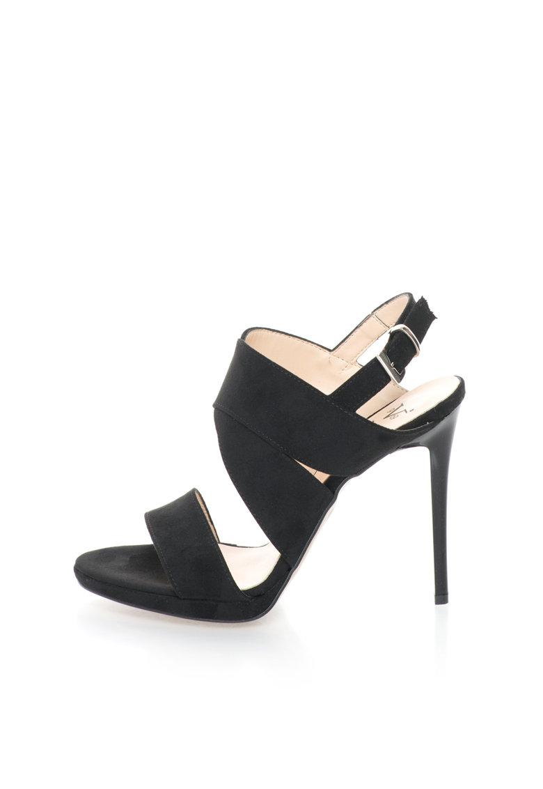 Versace 1969 Abbigliamento Sportivo Sandale stiletto negre Irmine