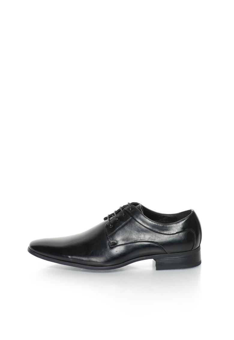 Versace 1969 Abbigliamento Sportivo Pantofi negri de piele sintetica Mathis