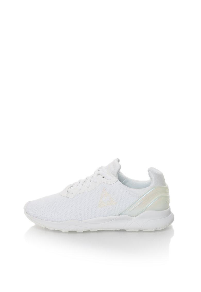 Le Coq Sportif Pantofi sport albi cu detaliu cu irizatii LCS R XVI