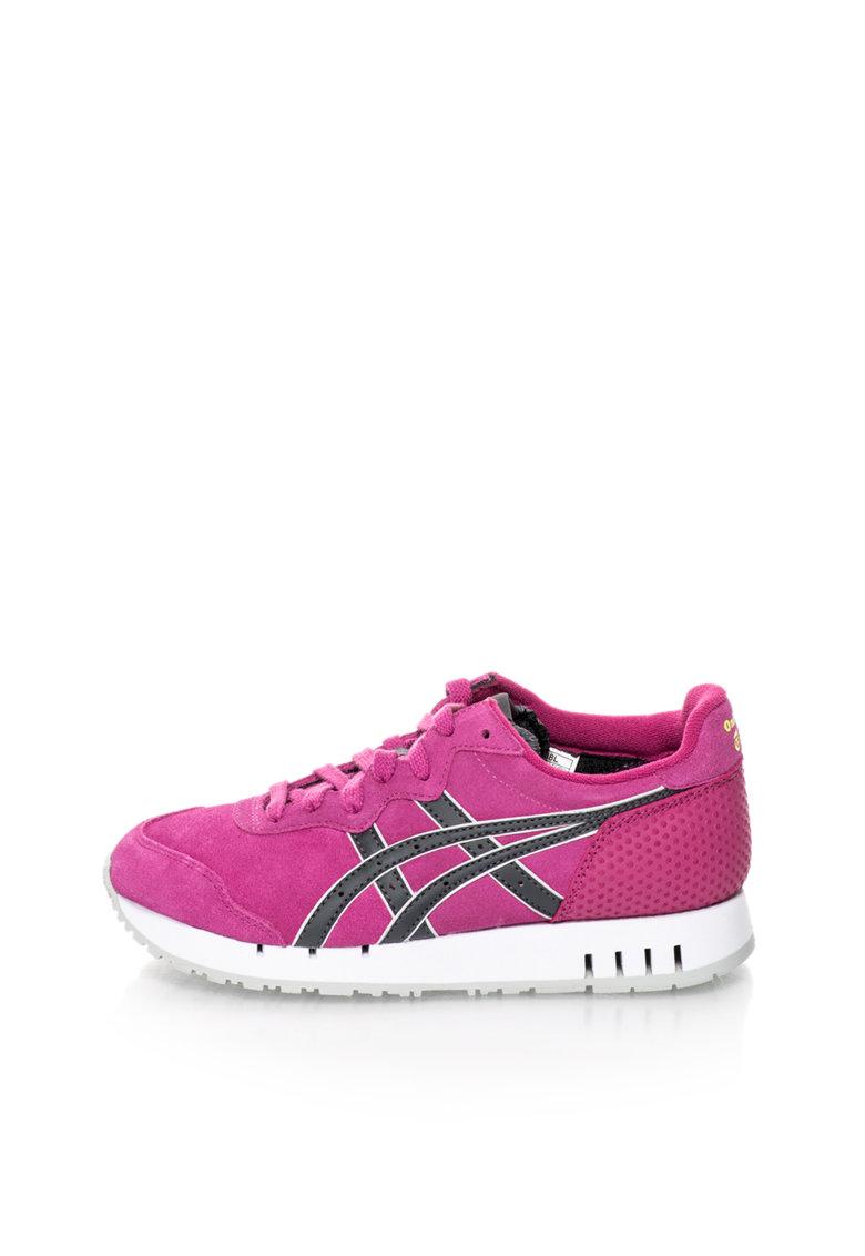 Pantofi sport de piele intoarsa cu detalii texturate  X-Caliber