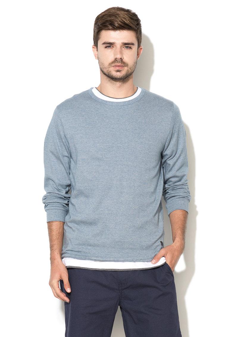 Bluza sport bleumarin melange