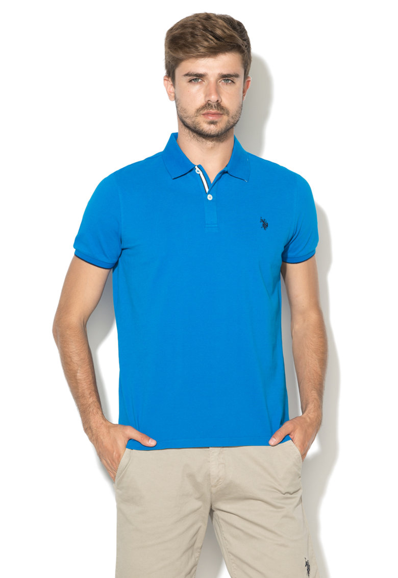 US Polo Assn Tricou polo albastru electric