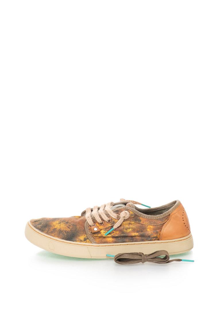 Satorisan Pantofi galben si maro cu model abstract Heisei