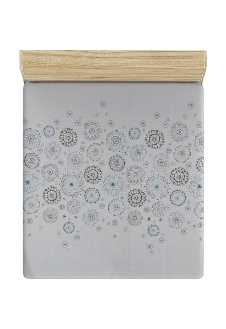 Cearsaf cu elastic si imprimeu cu mandale de la Leunelle