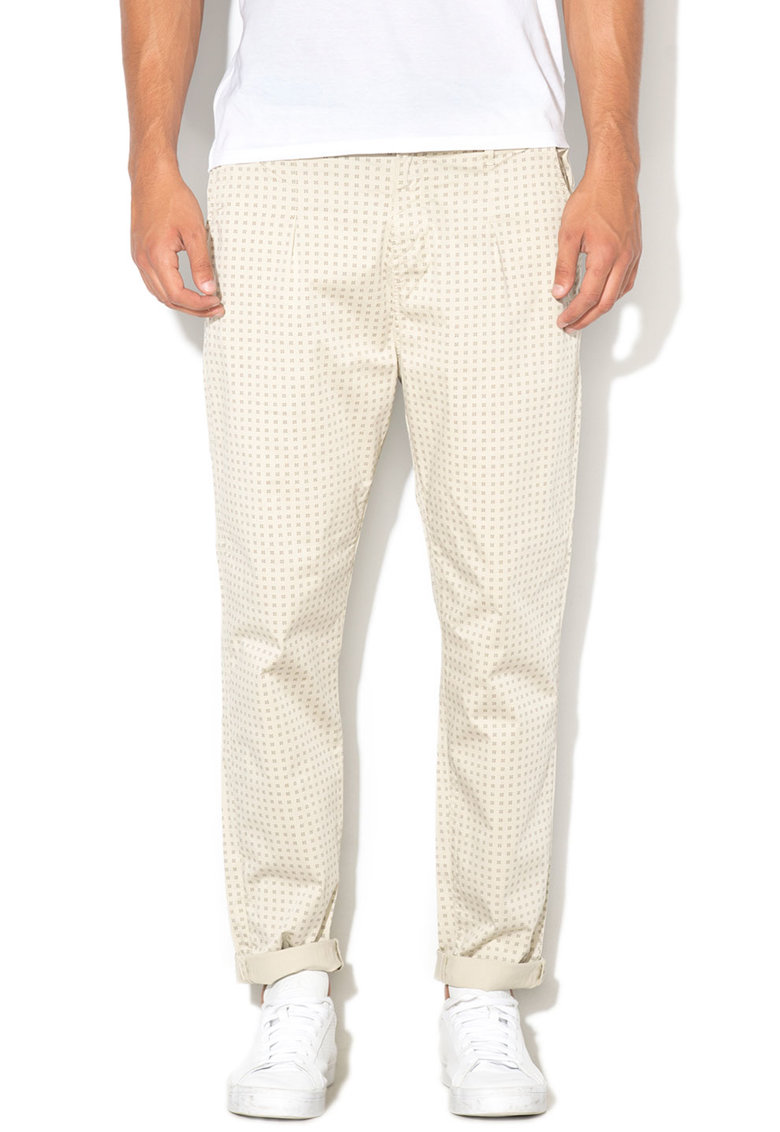GUESS JEANS Pantaloni chino cu imprimeu