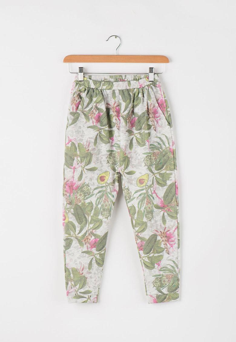 GUESS JEANS Pantaloni sport cu imprimeu tropical
