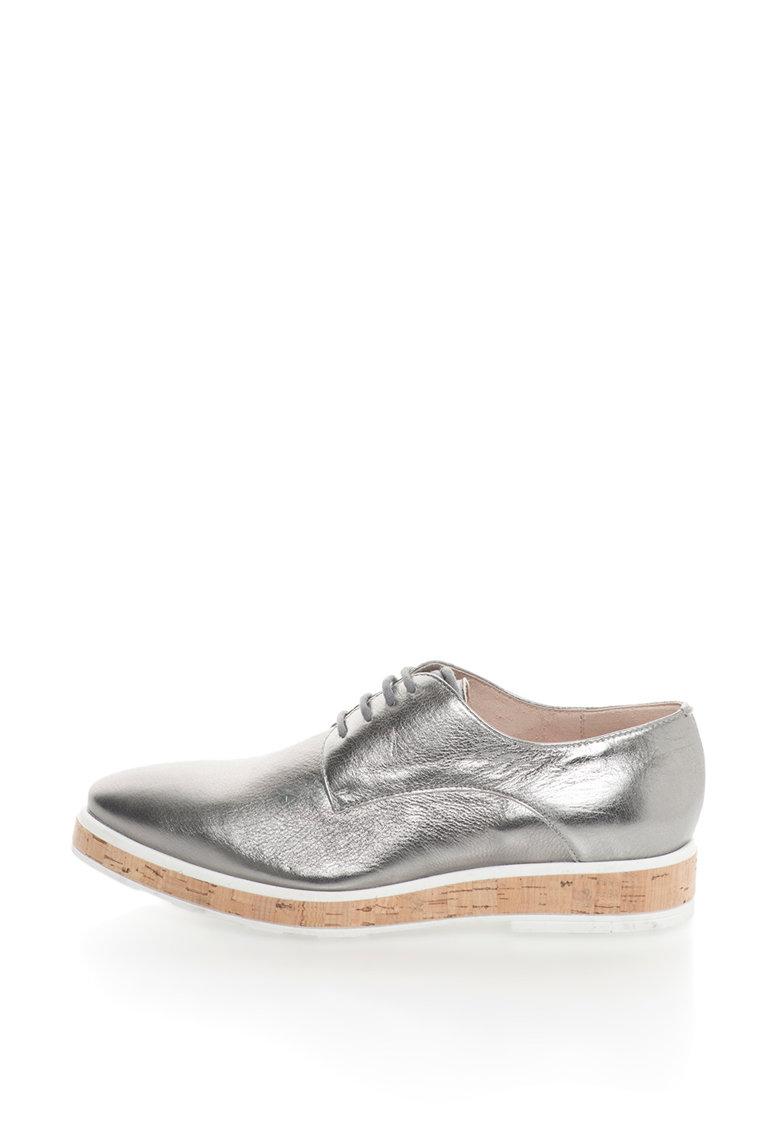 Gino Rossi Pantofi flatform de piele Inari