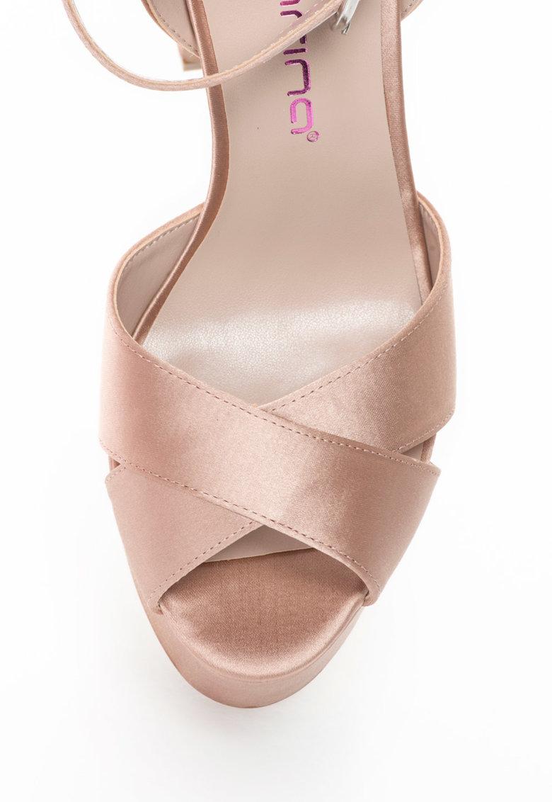 Sandale din satin cu platforma Lola