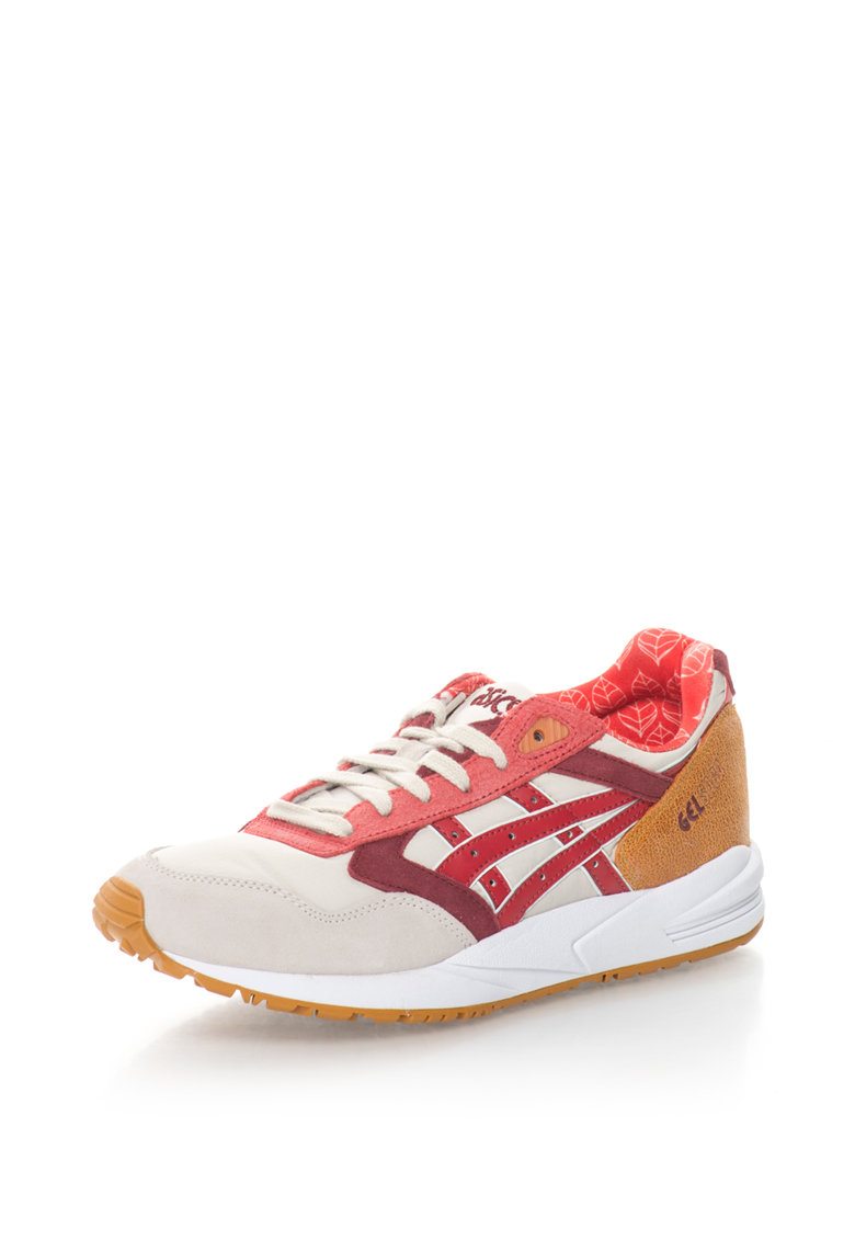 Asics Pantofi sport de piele intoarsa si material textil GEL SAGA