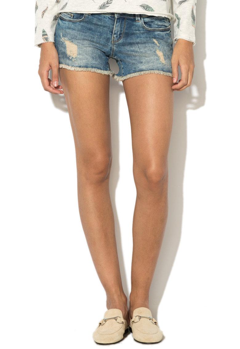Pantaloni scurti din denim cu aspect deteriorat Coral de la Only – 15138765-MEDIUM-BLUE-DENIM