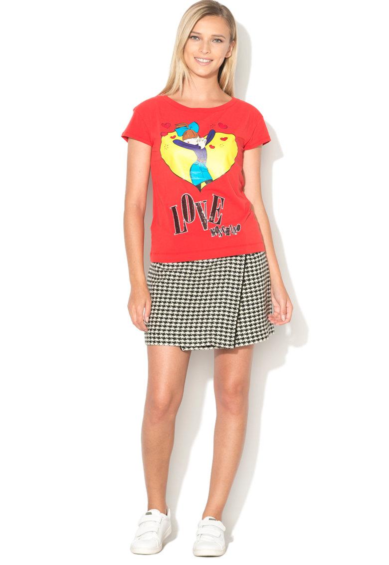 Love Moschino Tricou cu imprimeu emblematic