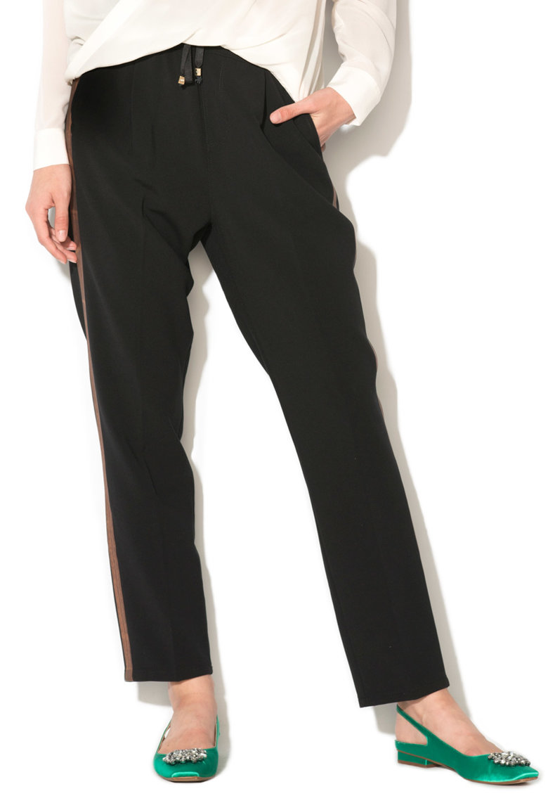 GAS – Pantaloni jogger cu garnituri tubulare laterale Jelinda 365707210925-0200