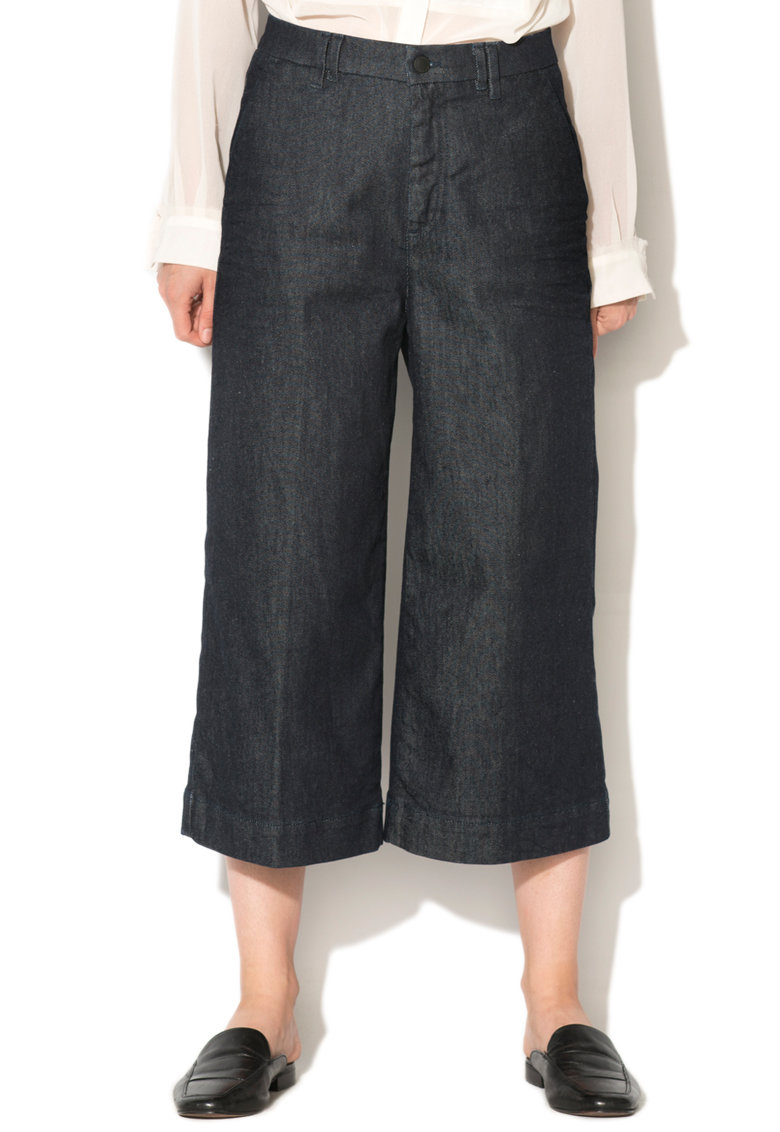 GAS Pantaloni culotte din denim Ivonne