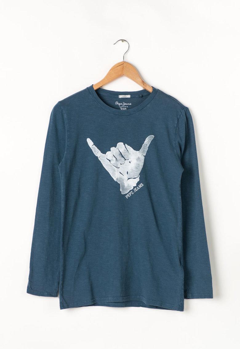 Bluza lunga cu imprimeu logo Jaime Pepe Jeans London